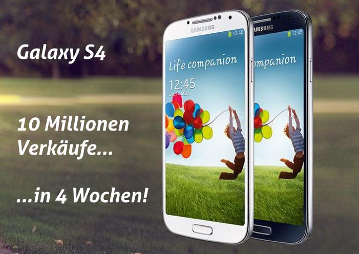 S4: 10 Millionen Verkäufe in 4 Wochen