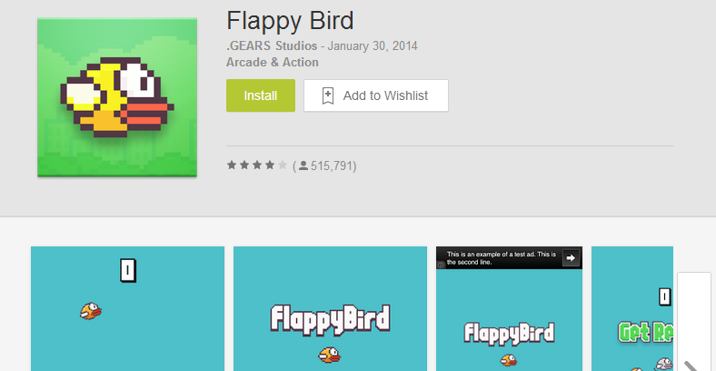 Google Play Flappy Birds