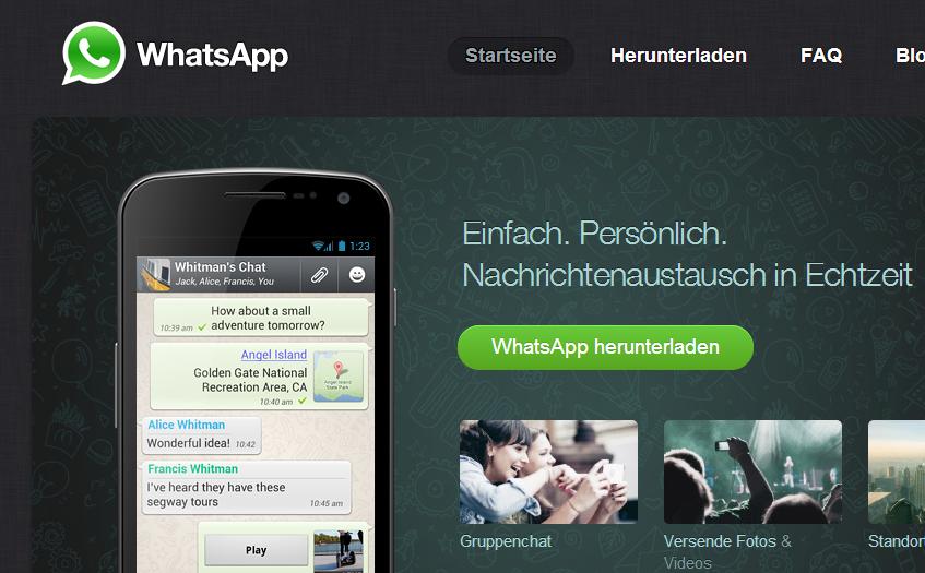 WhatsApp Startseite